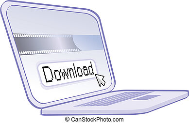 internet download - downloading on a computer