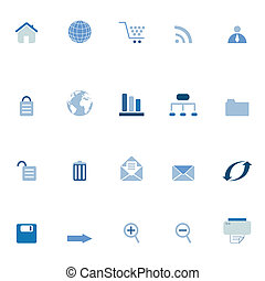 internet, e-commerce, szövedék icons
