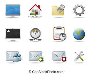internet, e, rete, icone