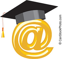 Internet education - Image can be used as a symbol of...