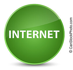 Internet elegant soft green round button