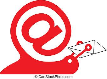 internet, escargot, signe