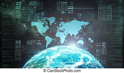 internet, extérieur, exposer, espace