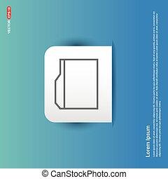 Internet file icon - Blue Sticker button