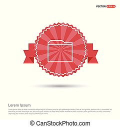 Internet file icon - Red Ribbon banner