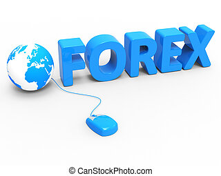 Internet Forex Shows World Wide Web And Earth - Global Forex...