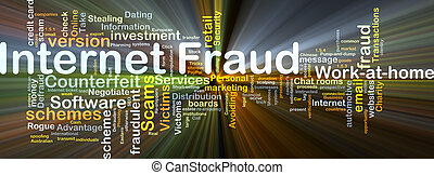Internet fraud background concept glowing - Background...