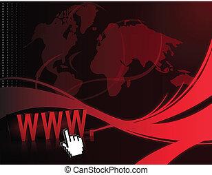 internet, fundo, onda