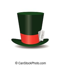 Internet green Hat Mad Hatter