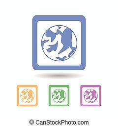 Internet icon. isolated on white background
