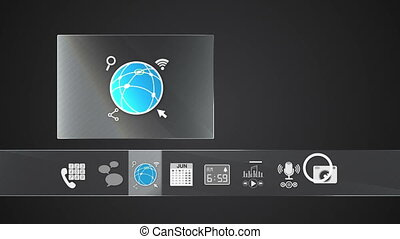 Internet icon mobile application - Icon for mobile...