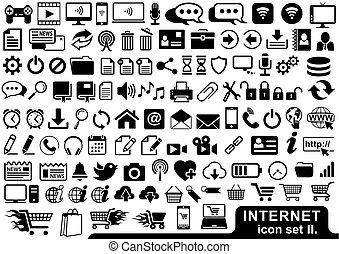 Internet Icon Set in Black
