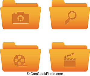 Internet Icons | Orange Folders 06