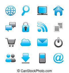 internet icons over white background vector illustration