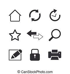 internet icons set on white background