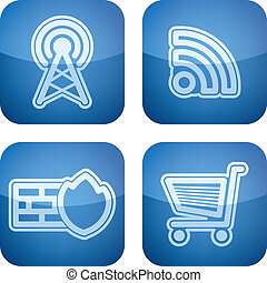 Internet Icons - Web interface icons, pictured here from...