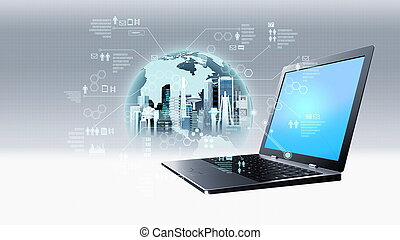 Internet information technology concept