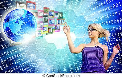 Internet innovative education. Network