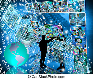 Internet interface - Many abstract images on the theme of...