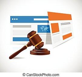 internet law concept illustration design