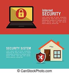 internet, maison, intelligent, système sécurité