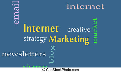 Internet Marketing concept word cloud background