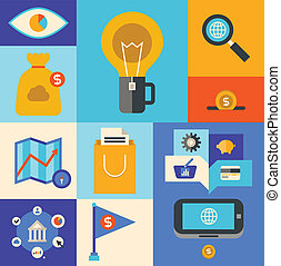 Internet marketing icons