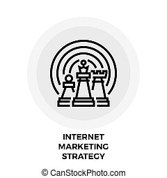 Internet Marketing Strategy Line Icon