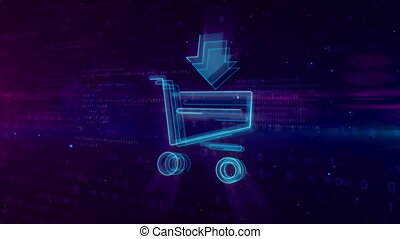 Internet marketing symbol with shopping cart