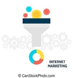 internet marketing, wohnung, begriff