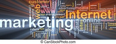 Internet marketing word cloud box package