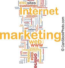 Internet marketing word cloud
