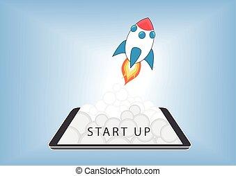 Internet Mobile Start Up concept