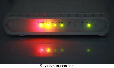 internet modem light background