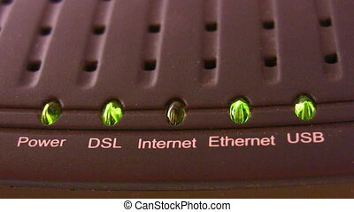 internet modem light - Internet modem light