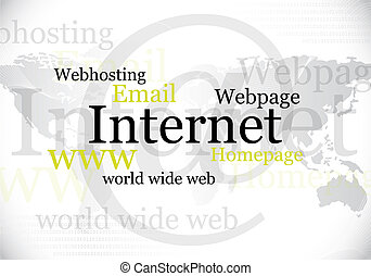 internet, mondiale, conception, large, toile