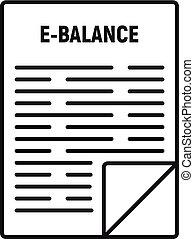 Internet money balance icon, outline style