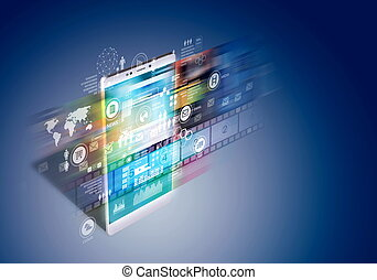 Internet multimedia on smart phone