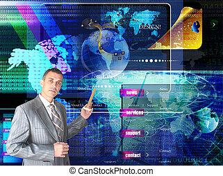 internet., nätverk, website., säkerhet