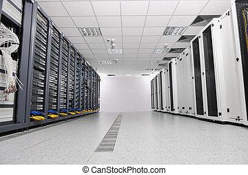 network server room - internet network server room with...