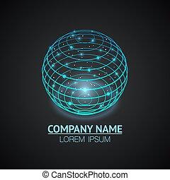Internet network sign logo icon.