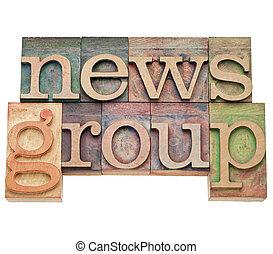 internet, -, notizie, gruppo, concetto