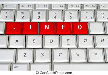 internet, oberseite, wasserwaage, domäne, .info