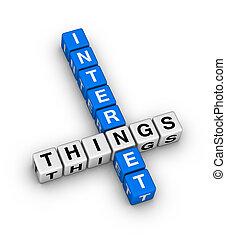 internet, od, rzeczy, krzyżówkowa zagadka