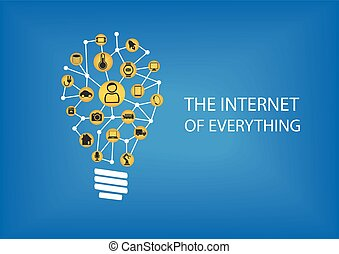 Internet of everything IOT concept