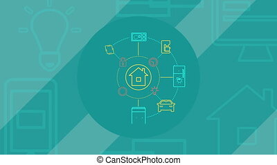 Internet Of Things and Smart Home Concept.