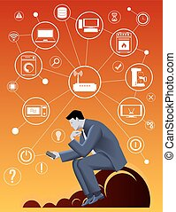 Internet of things business concept