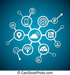 Internet of things concept - icon connect together