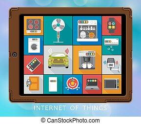 Internet of things flat icons set