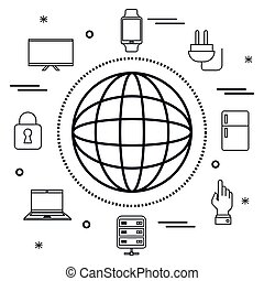 internet of things flat icons